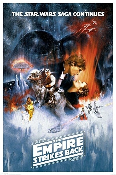 Pyramid International Maxi Poster Star Wars The Empire Strikes Back One Sheet Renkli
